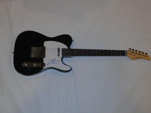 Rob Zombie Signed Black Electric Telecaster Guitar White Zombie Tele Jsa Coa