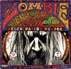 Rob Zombie Signed Venomous Rat Regeneration Vendor Album Cover AFTAL UACC RD COA