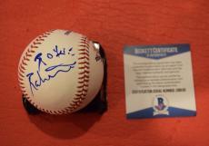Robbie Robertson Signed Autograph MLB Baseball THE BAND Bob Dylan BAS COA