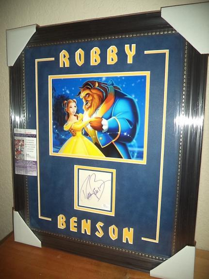 Robby Benson Beauty & The Beast Signed Autographed 16x24 Matted & Framed Jsa Coa