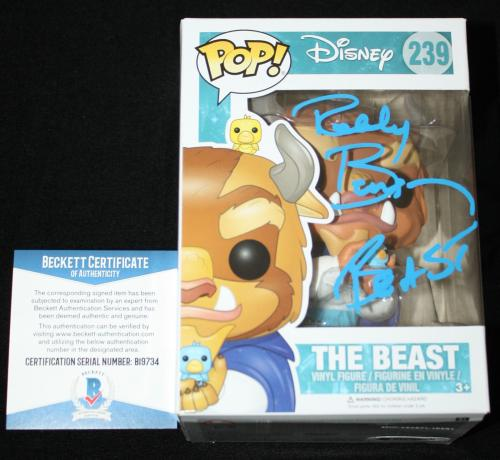 Robby Benson signed Funko POP with case, Beauty and the Beast, Beckett BAS