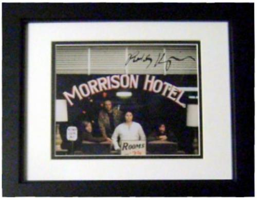 Robby Krieger autographed 8x10 Photo (The Doors Guitar Legend Jim Morrison singer pictured) Image #SC2 matted framed