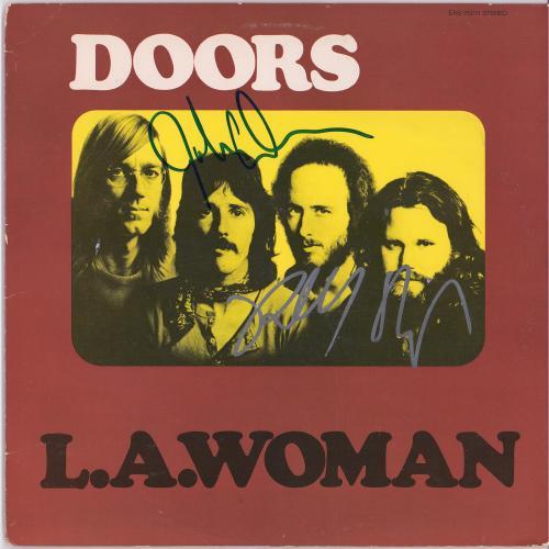 Robby Krieger John Densmore The Doors Autographed L.A. Woman Album - JSA