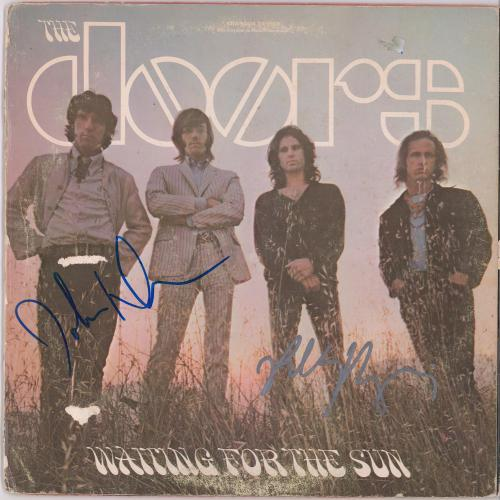 Robby Krieger John Densmore The Doors Autographed Waiting For The Sun Album - JSA