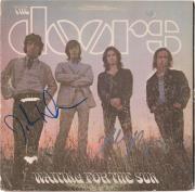 Robby Krieger John Densmore The Doors Autographed Waiting For The Sun Album - JSA