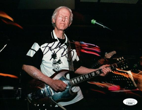 Robby Krieger Signed Autographed 8X10 Photo The Doors on Stage JSA II22699