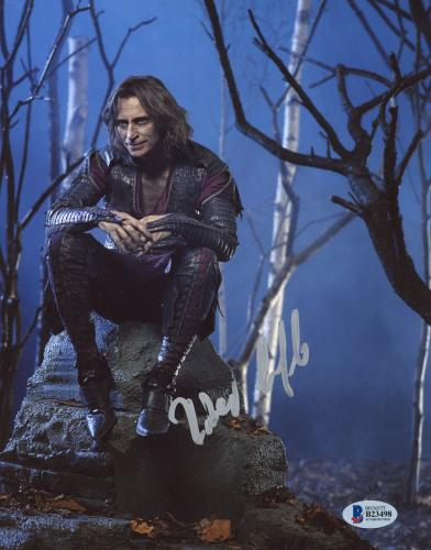 """Robert Carlyle Autographed 8"""" x 10"""" Once Upon A Time Sitting On Rock Photograph - Beckett COA"""