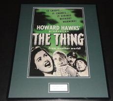 Robert Cornthwaite Signed Framed 16x20 Photo Poster Display The Thing