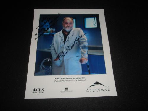Robert David Hall  CSI: Crime Scene Signed 8X10 Photo Authentic Autograph JB8