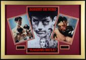 """Robert De Niro 27"""" x 45"""" Framed Raging Bull Collage With Autographed 11x14 Photo Gold Frame #1 - PSA/DNA COA"""