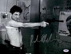 "Robert De Niro Autographed 11"" x 14"" Taxi Driver Holding Gun Horizontal Photograph - PSA/DNA COA"