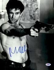 "Robert De Niro Autographed 11"" x 14"" Taxi Driver Pointing Gun With Eye Closed Vertical Photograph - PSA/DNA COA"