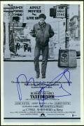 "Robert De Niro Autographed 12"" x 18""  Taxi Driver Black & White Movie Poster - Beckett"