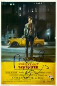 "Robert De Niro Autographed 12"" x 18"" Taxi Driver In Color Movie Poster - Beckett"