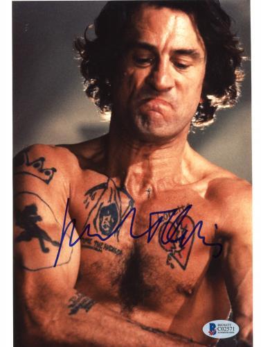 """Robert De Niro Autographed 8""""x 10"""" Cape Fear Shirtless with Tattoos Photograph - Beckett COA"""