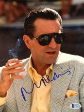 "Robert De Niro Autographed 8""x 10"" Casino Smoking Photograph - Beckett COA"