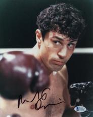 "Robert De Niro Autographed 8""x 10"" Raging Bull Boxing Photograph With Black Ink - BAS COA"