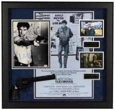 "Robert De Niro Framed Autographed 31"" x 31"" Taxi Driver Collage Shadowbox - PSA/DNA COA"