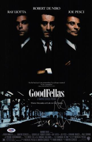 Robert De Niro Signed Goodfellas 11x17 Movie Poster Psa Coa Ad48045