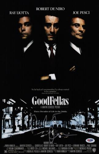 Robert De Niro Signed Goodfellas 11x17 Movie Poster Psa Coa Ad48052
