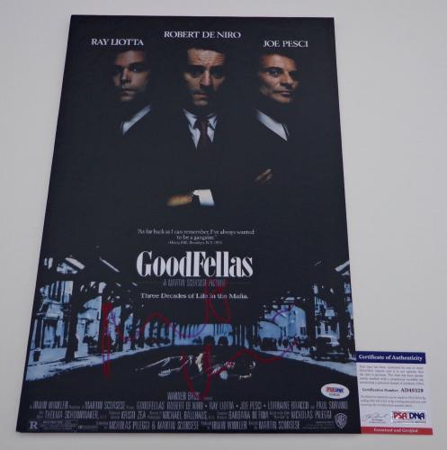Robert De Niro Signed Goodfellas 12x18 Movie Poster Psa Coa Ad48329