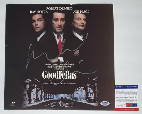 Robert De Niro Signed Goodfellas Laserdisc Psa Coa Aa68545