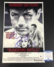 Robert De Niro Signed Raging Bull 12x18 Photo Authentic Autograph Beckett Bas