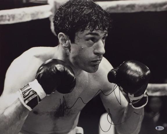 Robert De Niro Signed 'Raging Bull' 16x20 Photo *Jake La Motta Beckett C16422