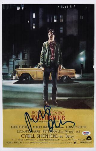 Robert De Niro Signed Taxi Driver 11x17 Movie Poster Psa Coa Ad48046