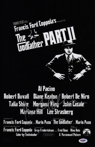 Robert De Niro Signed The Godfather Part Ii 11x17 Movie Poster Psa Coa Ad48053