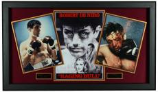 "Robert De Niro 27"" x 45"" Framed Raging Bull Collage With Autographed 11x14 Photo- PSA COA"