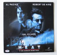 Robert Deniro & Al Pacino Signed HEAT Authentic Laser Disc Cover PSA/DNA #T46890