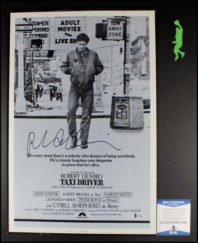 Robert Deniro Autograph Signed Taxi Driver 12x18 Poster Picture Beckett Coa