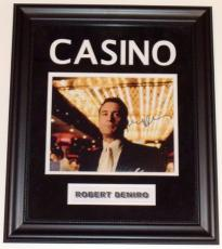 Robert DeNiro Autographed 8x10 CASINO Photo - Custom Deluxe Frame