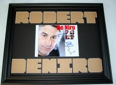 ROBERT DENIRO Autographed One Of A Kind Signed Photo Display AFTAL