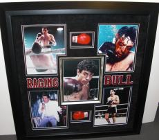 "Robert DeNiro Autographed ""Raging Bull"" 8x10 Photo - Deluxe Custom Framing with mini gloves"