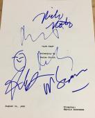 "Robert Deniro & Full Cast Signed Autograph ""cape Fear"" Classic Movie Script X4"