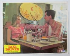 Robert Deniro & Jodie Foster Signed Taxi Driver 11x14 Lobby Card PSA/DNA #T58747