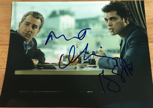 "ROBERT DENIRO & RAY LIOTTA SIGNED AUTOGRAPH RARE ""GOODFELLAS"" 8x10 DINER PHOTO"