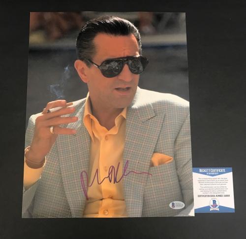 Robert Deniro Signed Auto Casino 11x14 Photo Bas Beckett Coa 4