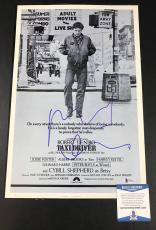 Robert De Niro Signed Auto Taxi Driver 12x18 Mini Movie Poster Bas Beckett Coa