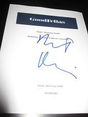 "Robert Deniro Signed Autograph ""goodfellas"" Movie Script In Person Coa Full X1"