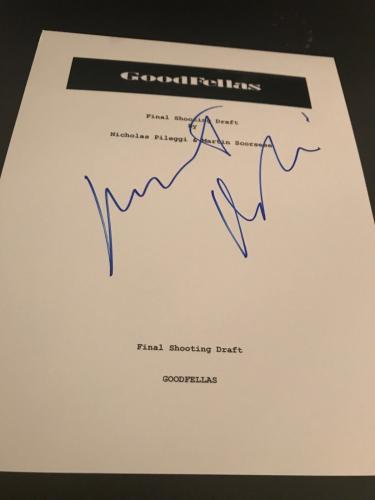 Robert Deniro Signed Autograph Goodfellas Movie Script In Person Full Script Coa