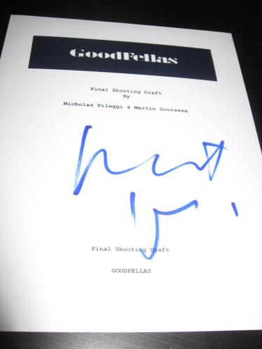 Robert Deniro Signed Autograph Goodfellas Script Full Script Rare Coa Legend