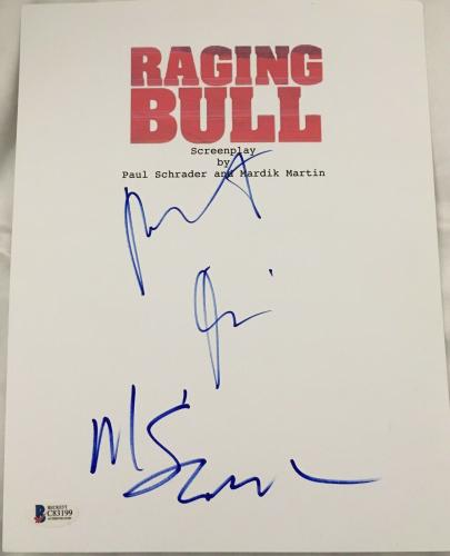 Robert Deniro Martin Scorsese Signed Autograph Raging Bull Movie Script Beckett
