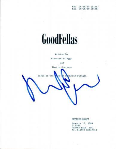 Robert DeNiro Signed Autographed GOODFELLAS Movie Script COA