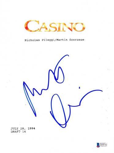Robert Deniro Signed Casino Full Script Authentic Autograph Beckett Coa