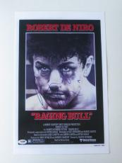 Robert Deniro Signed Raging Bull Authentic 11x17 Mini Poster (PSA/DNA) #S34365