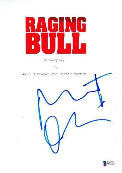 Robert Deniro Signed Raging Bull Full Script Authentic Autograph Beckett Coa