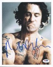 Robert Deniro Taxi Driver Signed 8x10 Photo Psa/dna #u51192